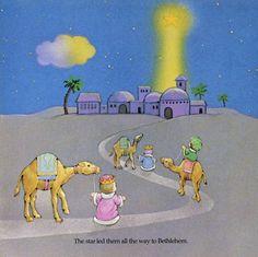 tres reyes de oriente siguen la estrella van a adorar El Nacimiento del Niño