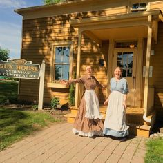 Jill and Caitlan getting into the Victorian Spirit this morning before our school tour! #museumlife #oshawamuseum #Oshawa #museumeducation #victorianstyle