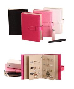 Portable, can be folded as a notebook. Ideal for displaying earring and ear studs. Can display 42 pairs ear studs/earrings. 1 x Ear Studs Display Holder. Leather Earrings, Leather Jewelry, Stud Earrings, Bag Display, Display Boxes, Book Organization, Jewelry Organization, Earring Storage, Best Birthday Gifts