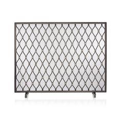 Corbett Fireplace Screen | Crate and Barrel