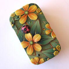Ladybug Slide Top Tin Sewing Needle Case by Claybykim on Etsy, $16.00