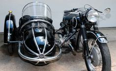 Very nice combination: 1954 BMW R68 with Steib sidecar -