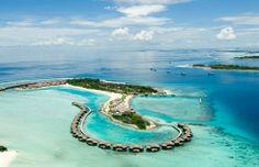 Chaaya island dhonveli ariel view #voyagewave #maldivesholidays -->> www.voyagewave.com