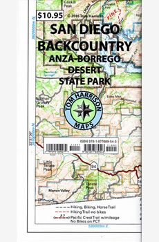 Recreation Map of the San Diego Backcountry: Waterproof, synthetic paper (Tom Harrison Maps) Anza Borrego State Park, Pacific Crest Trail, National Forest, State Parks, San Diego, Books To Read, Toms, Ebooks, Reading