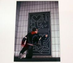 Keith Haring, Valentine's Day (with Keith) subway drawing, 1983 #nyc