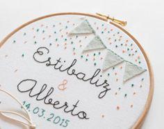 Frame-Halter-Allianzen für Hochzeiten - Flags und Konfetti