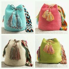 """New Cheap Bags. The location where building and construction meets style, beaded crochet is the act of using beads to decorate crocheted products. """"Crochet"""" is derived fro Tapestry Bag, Tapestry Crochet, Crochet Handbags, Crochet Purses, Crochet Bags, Mochila Crochet, Crochet Backpack, Diy Accessoires, Boho Bags"""