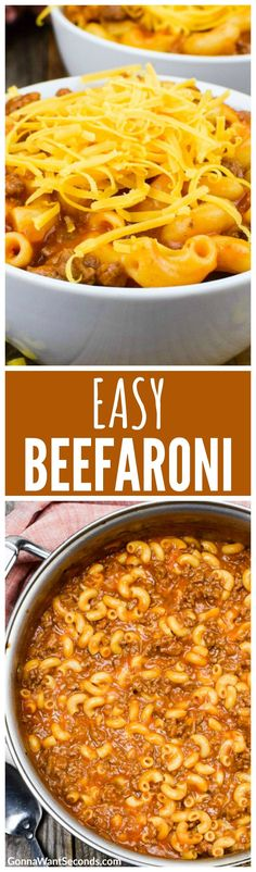 Easy Homemade Beefaroni is perfect for the simplified flavor palates of kids. So much better than anything from a can! Quick and Easy–Ready in less than 30 minutes!