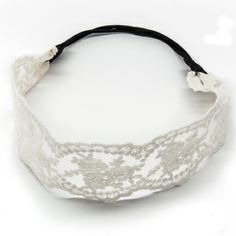 Feminine and light, this lacy #headband is made of an airy rayon/cotton mix. Great for festivals, #yoga class and every-day wear. Available in four colors: champagne, black, navy and cream. #headbands #beauty #hair #accessories