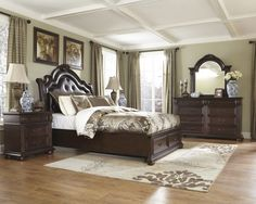 Reg Price: $ 2,849.00 $1,709.40 Guaranteed Low Price   Weight   523.00, Includes   Queen Panel Storage Bed, Dresser and Mirror