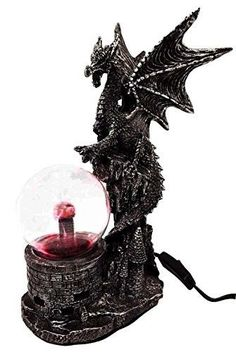 Dungeons and Dragons Dragon AC Powered Flashing Lightning Electric Ball Figurine offered by istatue on eBay