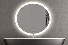 London runder Spiegel mit LED Beleuchtung Badspiegel Zimmer Spiegel Beleuchtet (60cm, Warmweiss): Amazon.de: Küche & Haushalt