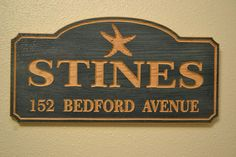 House Sign House Number Sign  Personalized Name by MasterWorks888, $44.95
