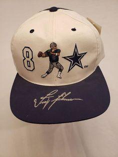 Troy Aikman adult cap Vintage Tag 8 Dallas Cowboys Texas Football white 1995 5158b1dae