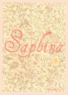 """Baby Girl Name: Saphina. In Swahili, Safina (with an f) means """"Ark of Noah""""... I couldn't find an origin for Saphina (with a ph) nevertheless, I am more fond of spelling it this way. http://www.pinterest.com/vintagedaydream/baby-names/"""