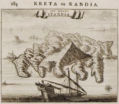 1688 Χάρτης της Δίας. - DAPPER, Olfert - ME TO BΛΕΜΜΑ ΤΩΝ ΠΕΡΙΗΓΗΤΩΝ - Τόποι…