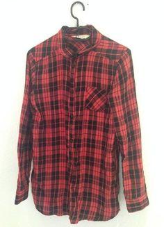 Rot-Schwarz kartiertes Hemd / Bluse