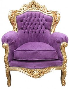 Casa Padrino Barock Sessel 'King' Mod 2 Lila / Gold Möbel Antik Stil Casa Padrino http://www.amazon.de/dp/B00L9N3M52/ref=cm_sw_r_pi_dp_cy54ub0J2VK7K