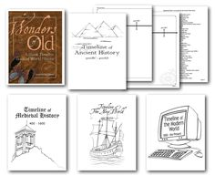 Knowledge Quest World History Timeline is an easy way to learn history, geography, and famous people. A book your student will love and use for years. Especially suited for learners who love coloring, cutting, pasting, and lap booking.