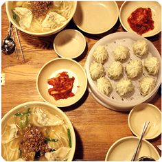 the noodles are big and chewy, the kimchi taste is strong and the MANDU IS THE BEST!!!!!!!!!!!!!