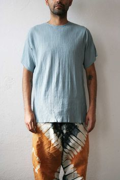 Light Blue Gauze Tee by weltenbuerger on Etsy, $54.00