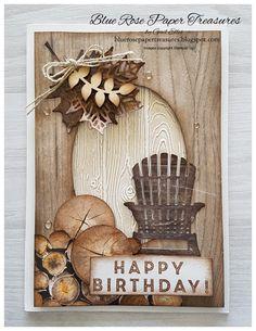 Stampin' Up! Masculine Birthday Cards, Birthday Cards For Men, Handmade Birthday Cards, Masculine Cards, Greeting Cards Handmade, Cards For Men Handmade, Birthday Wishes, Fall Cards, Christmas Cards