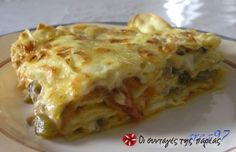 Lasagna - Which is correct? Depends on where you live. In Italy, 'lasagna' is singular, 'lasagne' is plural. In Great Britain 'lasagne' is primarily used, whereas in the U. both 'lasagne' and 'lasagna' are used interchangeably. Tuna Recipes, Ww Recipes, Pasta Recipes, Italian Recipes, Chicken Recipes, Cooking Recipes, Quiche Recipes, Sausage Recipes, Chicken Spinach Mushroom