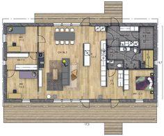 LATO 148 | Kannustalo Top View, Dream Big, Future House, Floor Plans, Inspiration, Architecture Models, Home, Dreams, Decor Ideas
