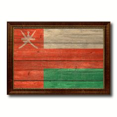 Oman Country Flag Texture Canvas Print, Custom Frame Home Decor Gift Ideas Wall Decoration