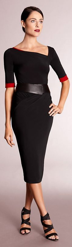 black dress  @roressclothes closet ideas women fashion outfit clothing style apparel Donna Karan