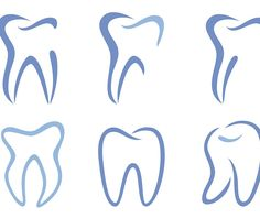 Looking at a few depictions of teeth in identity design and the colours used to get some inspiration. these are some more traditional representations of teeth and are likely to be something like what I end up going for in the end. The blue tones in here are likely in place to give the impression of a calming dentist rather than a high stress environment.