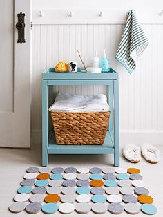 You don't have to completely remodel your bathroom to get an updated look. Use our list of DIY project ideas to cheaply update and redecorate your bathroom on a budget. Give a new look to your walls, sink, vanity and shelving for a redesigned and functional room!