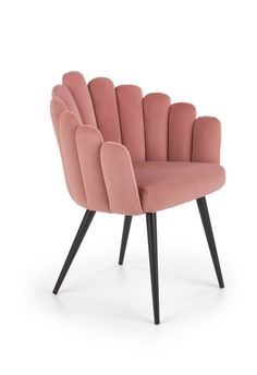 Scaunul K410 are un design modern cu un spatar nonconformist dar care atrage datorita formei lui. Aspectul scaunului si realizarea lui confera acestuia o nota distinctiva, eleganta, potrivit cu stilul glamour. Catifeaua folosita este de inalta calitate care asigura o utilizare indelungata si rezistenta sporita. #scaun #tapitat #catifea #roz #scaunroz #scauncatifea #scaunmodern #pink #velvet #chair #velvetchair #pinkchair Outdoor Chairs, Dining Chairs, Outdoor Furniture, Outdoor Decor, Armchair, Colours, Vintage, Home Decor, Products