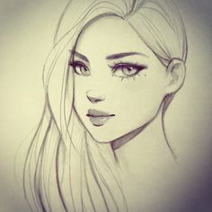 Female Character Drawing Class by GabrielleBrickey on DeviantArt Girl Face Drawing, Girl Drawing Sketches, Cartoon Girl Drawing, Cool Art Drawings, Pencil Art Drawings, Drawing Art, Drawings Of Faces, Horse Drawings, Cartoon Girls