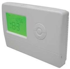 Dayton 6EDZ8 Digital Thermostat, 2H, 2C, 7 Day Prog by Dayton. $95.24. Low Voltage Thermostat, Digital Programmable, Stages Heat 2, Stages Cool 2, Temp. Settings per Day 4, Programs per Week 7, Terminal Designations O,B,Y1,Y2,G,W2,E/W1,R,C, System Switching Heat-Off-Cool-AutoHeat-Off-Cool-Auto, Fan Switching Auto-On, Display LCD, Battery Backup, Power Method Hardwired, Voltage (AC) 24, Mounting Horizontal or Vertical Electrical Box, Height (In.) 7-5/8, Width (In.) 4-5/16...