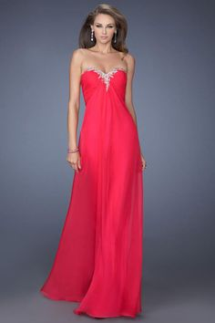 2014 Prom Dress Ruched Bodice A Line Shirred Floor Length Chiffon With Beads