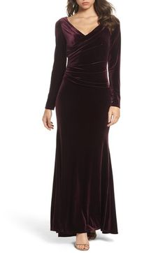 e38eee1cec7 Free shipping and returns on Vince Camuto Velvet Gown (Regular  amp   Petite) at