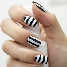 love these striped nails!