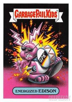 The Garbage Pail Kids Sticker Gallery for We Hate the TV features hi res images of every sticker in the subset! Dope Cartoon Art, Dope Cartoons, Garbage Pail Kids Cards, Collectible Cards, Photography Pics, Kids Stickers, Patch Kids, Scary Movies, Paper Toys