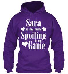 Sara Is My Name Purple Sweatshirt Front