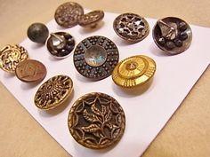 Button アンティークボタン メタルボタン 12個 1307 ハンドメイド インテリア 雑貨 Handmade ¥1800yen 〆05月23日