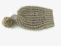 Womens Crochet Hat Slouchy Hat Beanie Beige color by Nakkashe