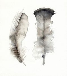 So pretty and luxe looking (Turkey Feathers Watercolor Print by amberalexander $18.00)