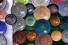Moroccan Plates!! except for not on the wall.. Ceramic Plates, Ceramic Pottery, Pottery Art, Decorative Plates, Moroccan Plates, Moroccan Room, Moroccan Decor, Moroccan Design, Moroccan Style