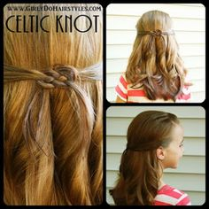 Girly Do Hairstyles: By Jenn: Celtic Knot
