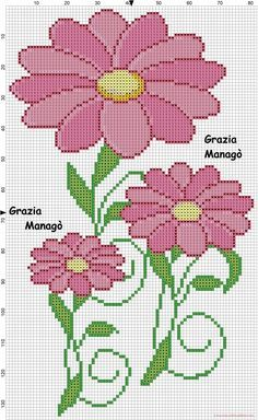Fiori rosa (click to view) Butterfly Cross Stitch, Just Cross Stitch, Cross Stitch Heart, Cross Stitch Borders, Cross Stitch Flowers, Modern Cross Stitch, Counted Cross Stitch Patterns, Cross Stitch Designs, Cross Stitching