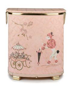 Vintage 50s Antique Pink Poodle Fifi Paris by BombshellBetties, $495.00