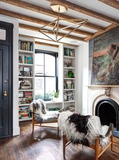 Cozy reading room in a townhouse