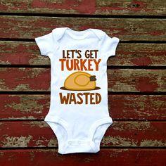 Let's Get Turkey Wasted Bodysuit, Baby Boy, Boys, Toddler, Halloween, Thanksgiving, Football, Family, Pumpkin, Pumpkin Spice