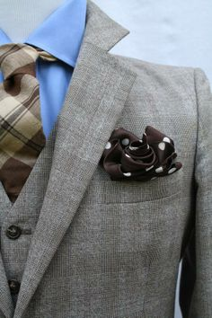 Grey, blue and brown combination
